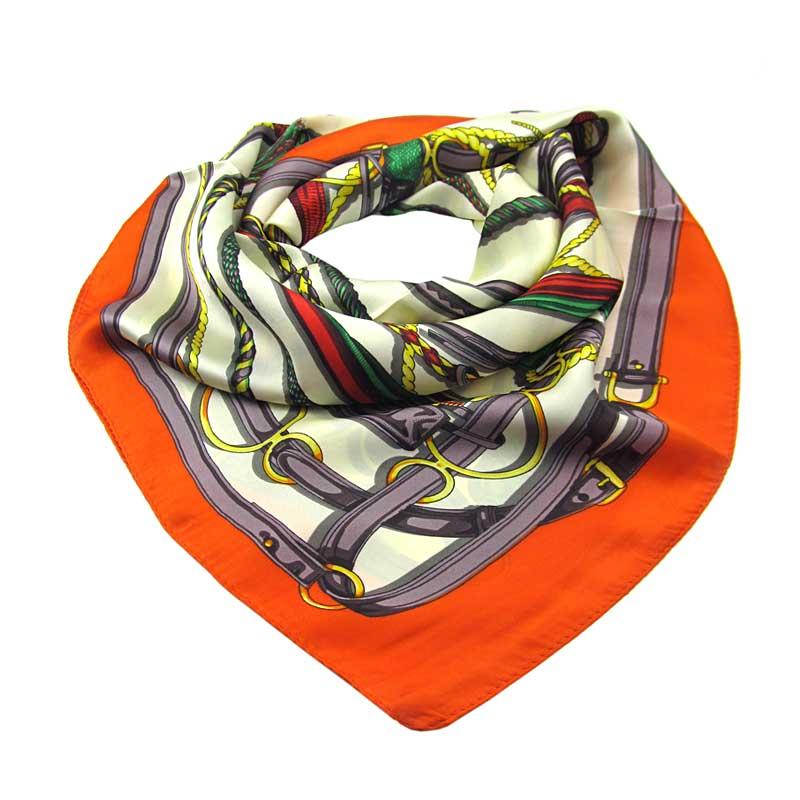 b500413d179 Šátek s oranžovým okrajem střední vícebarevný