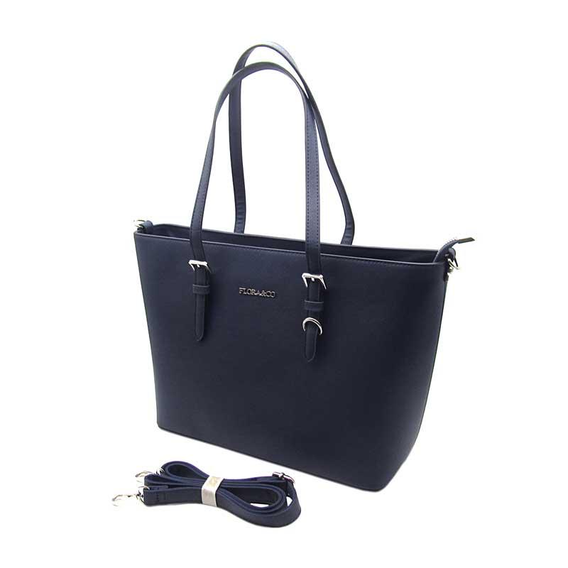 4025b6e1db FLORA CO elegantní modrá středně kabelka na rameno i do ruky ...