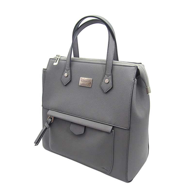 329734e34a Praktická šedá kabelka batoh 2v1 Flora co