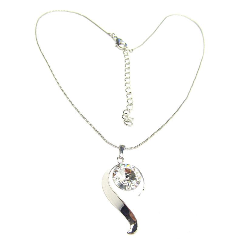 03d8cd7ec Třpytivý náhrdelník se Swarovski crystal bílý | PresentWill ...